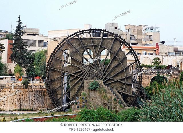 Water wheel at Hama, Syria