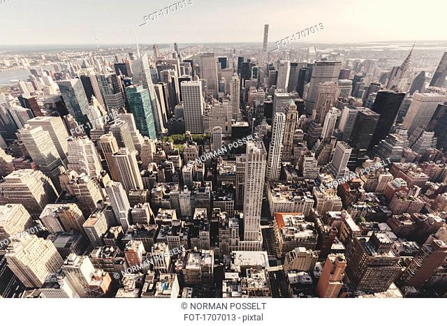 High angle view of Manhattan seen from Empire State Building, New York City, New York, USA