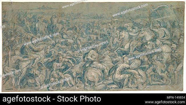 The Battle of Trasimeno. Artist: Crispijn van den Broeck (Netherlandish, Mechelen ca. 1524-ca. 1591 Antwerp); Date: 16th century; Medium: Pen and brown ink