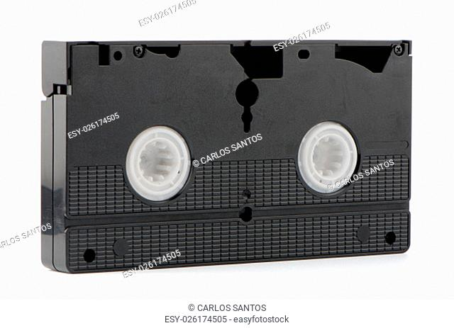 Old VHS Video tape isolated on white background