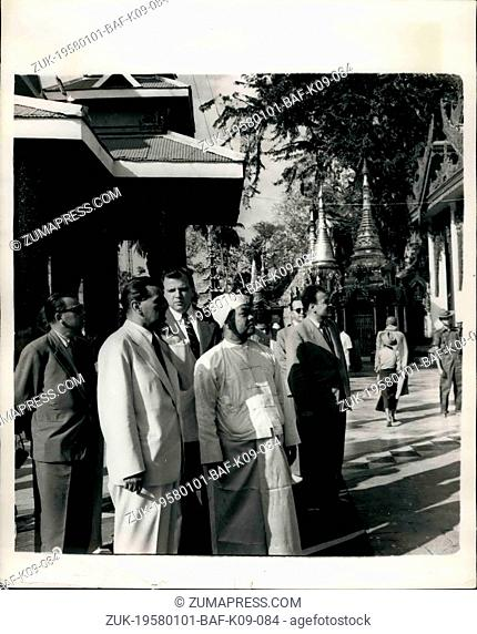 Jan. 01, 1958 - Czech Prime Minister on visit to Burma: Czech Prime Minister Mr. William Siroky accompanied by a party of ministers - recently paid a visit to...