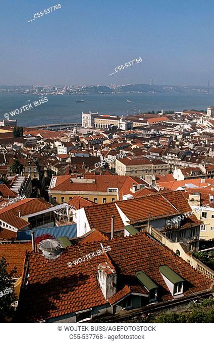 View from Castelo de São Jorge, Lisbon. Portugal