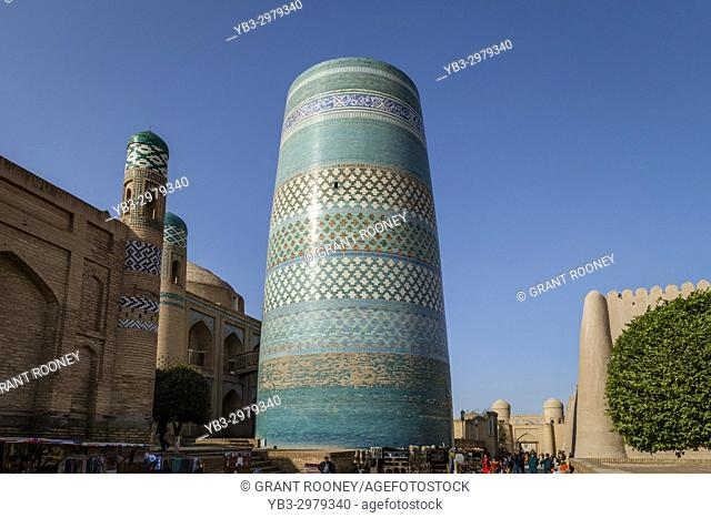 The Kalta Minar Minaret, Khiva, Uzbekistan