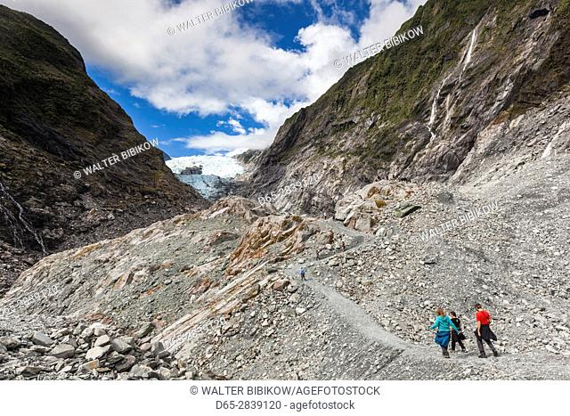 New Zealand, South Island, West Coast, Franz Josef, Franz Josef Glacier, Waiho River hike