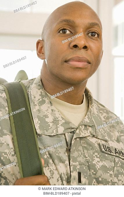 African man in military uniform