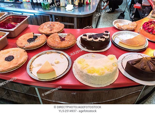 New York City, USA, American Cakes on Display in Bakery Shop, Greenwich Village