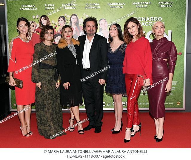 Caterina Murino, Antonia Truppo, Michela Andreozzi, the director Leonardo Pieraccioni, Mariasole Pollio, Gabriella Pession