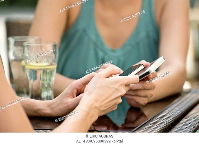Pairing smartphones using bluetooth to exchange data