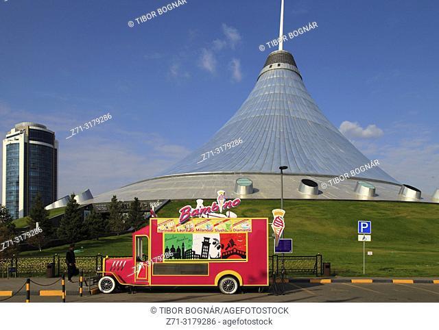 Kazakhstan, Astana, Khan Shatyr, shopping mall, Norman Foster, architect,