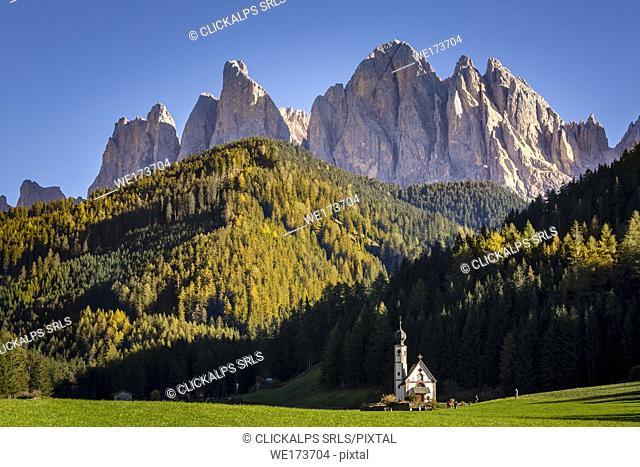 Santa Maddalena di Funes, Dolomites Alps, Trentino Alto Adige, Italy