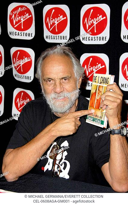 Tommy Chong at arrivals for In-Store Appearance by Tommy Chong, signing copies of THE I CHONG, Virgin Megastore, Hollywood Blvd, Hollywood, CA, August 08, 2006
