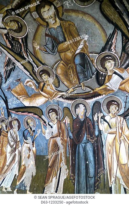 Frescoes of the Karanlik Kilise (Dark Church, 12th century), Goreme Open Air Museum, Cappadocia, Turkey