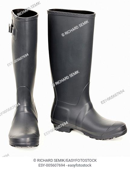 gray rubber boots