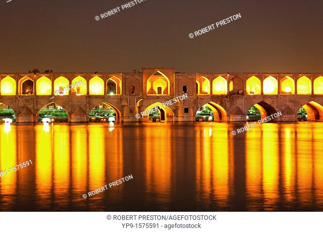 The Se-o-se bridge or Bridge of 33 arches, Isfahan , Iran