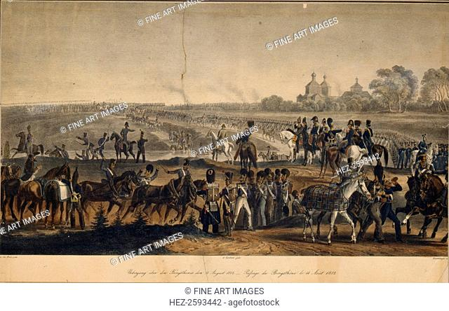 The Crossing the Dnieper on August 14, 1812, 1820s. Found in the collection of the State Borodino War and History Museum, Moscow