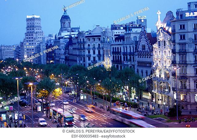 Passeig de Gràcia, Barcelona. Spain