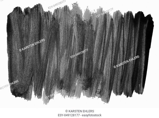Very dirty black paintbrush stripes on white background