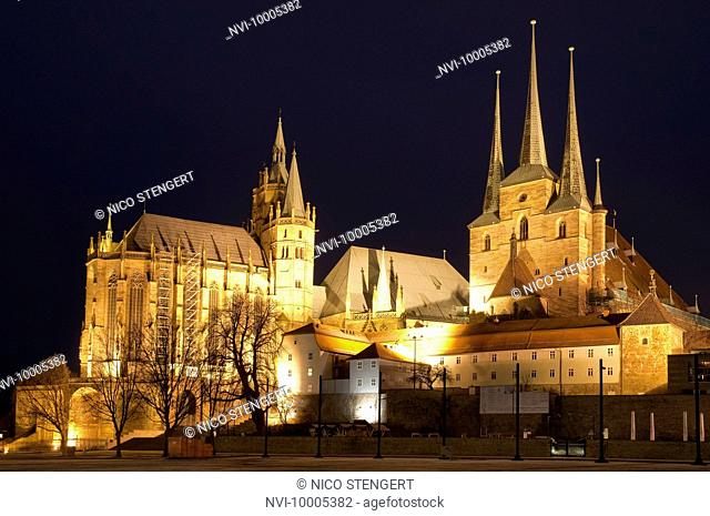 St. Marien Cathedral and St. Severi Church, Erfurt, Germany