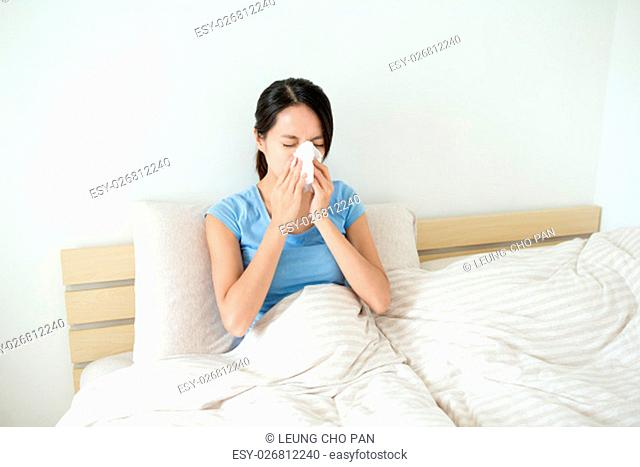 Woman runny nose