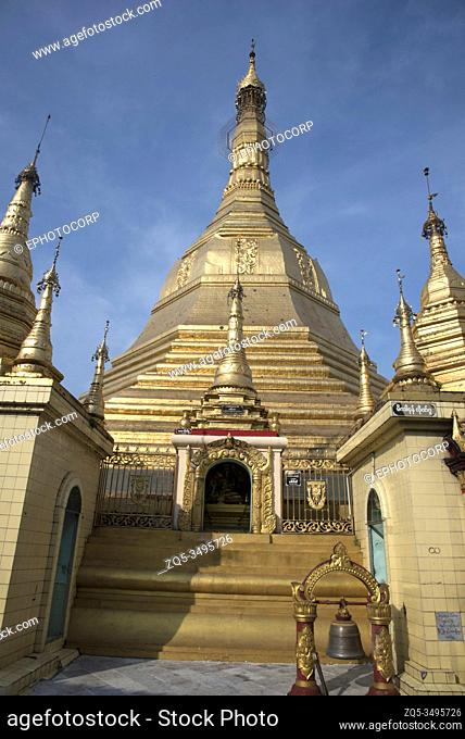 Myanmar: Yangon- View of Sule pagoda