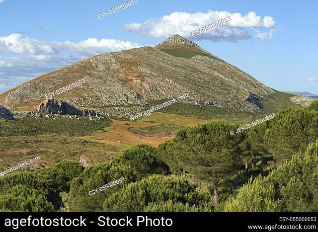 La Capilla, limestone peak and mountain range in the Abdalajis Valley, Malaga. Spain