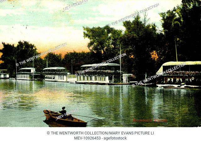 Houseboats on the Thames, Staines-upon-Thames, Surrey, England