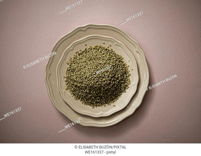 . Dish of rice integral