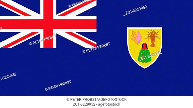 Flag of the British overseas territory Turks and Caicos Islands