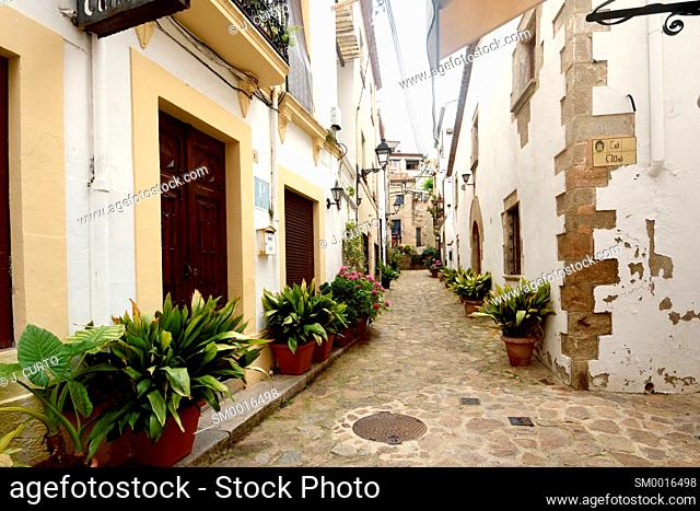 old town of Tossa de Mar, Girona province, Catalonia, Spain
