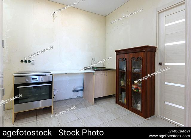 Temporary kitchen set for the period of renovation in the apartment