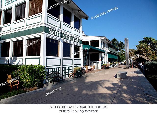 Smith and Wollensky Restaurant in Miami Beach, Florida, USA