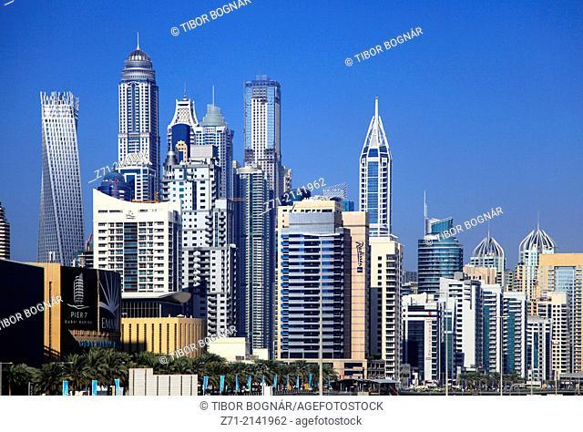 United Arab Emirates, Dubai, Marina, skyline,