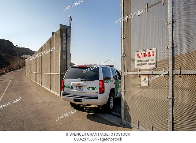 A Border Patrol SUV polices the U.S./Mexico Border near Tijuana. The Border Patrol is part of the U.S. Department of Homeland Security