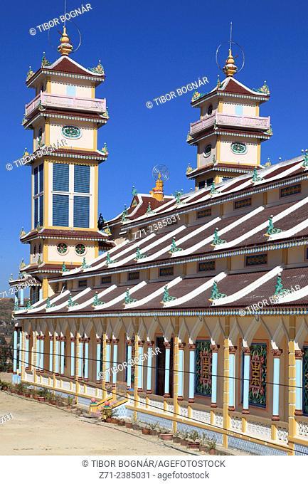 Vietnam, Dalat, Trai Mat, Cao Dai Temple