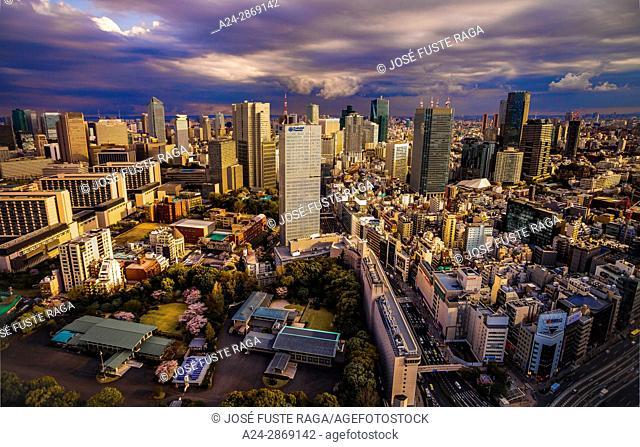 Japan, Tokyo City, Akasaka, Toranomon , Roppongi Hills areas