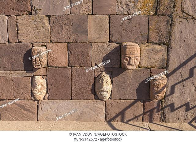 Ancient ruins, Tiwanaku, La Paz department, Bolivia