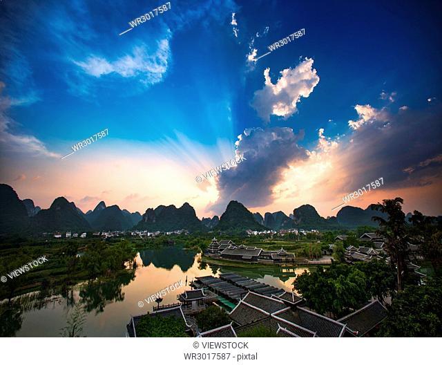 Guilin scene of Guangxi, China