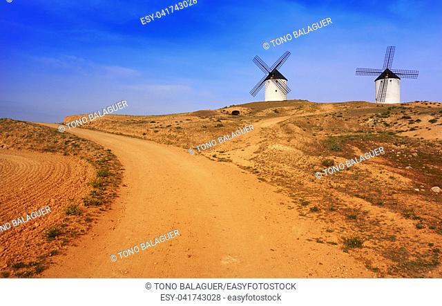 Tembleque windmills in Toledo at Castile La Mancha on Saint james way
