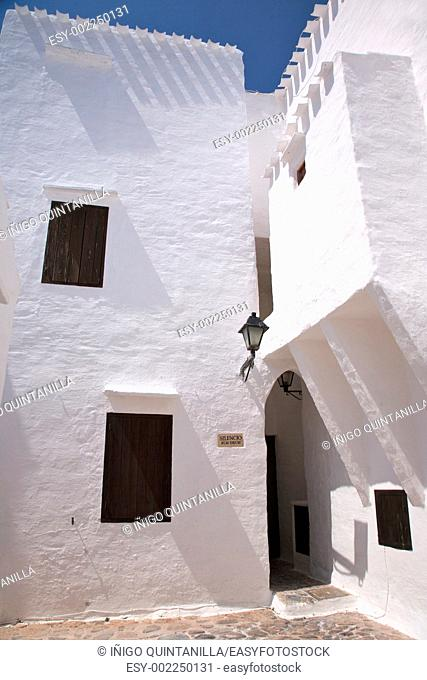 village of Binibeca at Menorca island in Spain