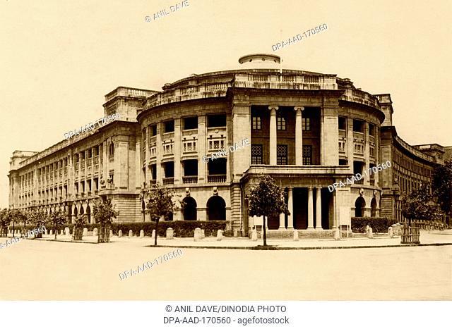 Old vintage 1900s photo of Cowasji Jehangir Hall now NGMA, Bombay, Mumbai, Maharashtra, India, Asia