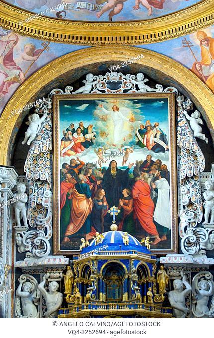 Church Santa Maria dell'Ammiraglio detta la Martorana, The Major Altar, Italy, Sicily, Palermo