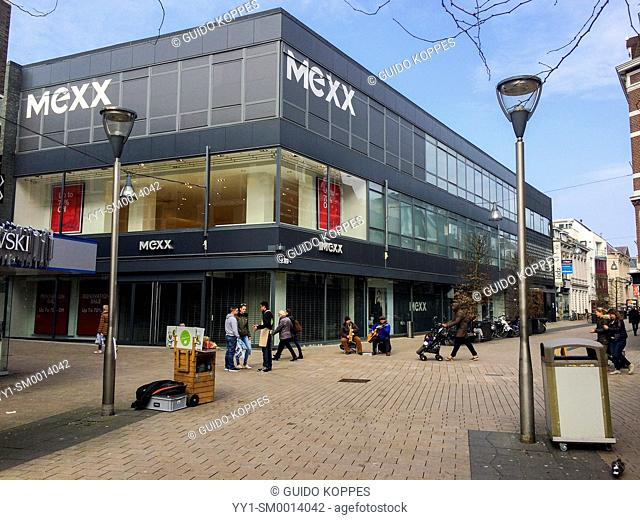 Tilburg, Netherlands. The abandoned store of a retailer in fashion, MEXX, days after going out of business due to the economic situation