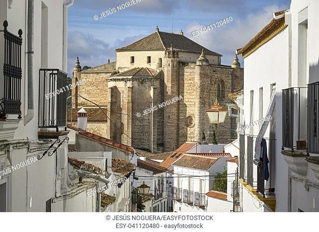 Castle church in the town of Cazalla de la Sierra, Sevilla. Andalucía, Spain