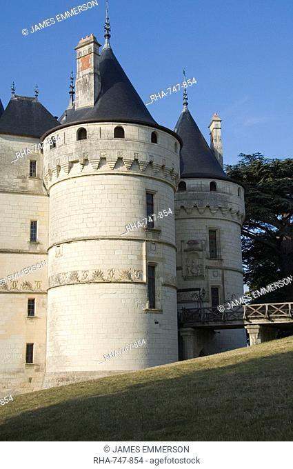 The Gate Towers, Chateau de Chaumont, Loir-et-Cher, Loire Valley, France, Europe