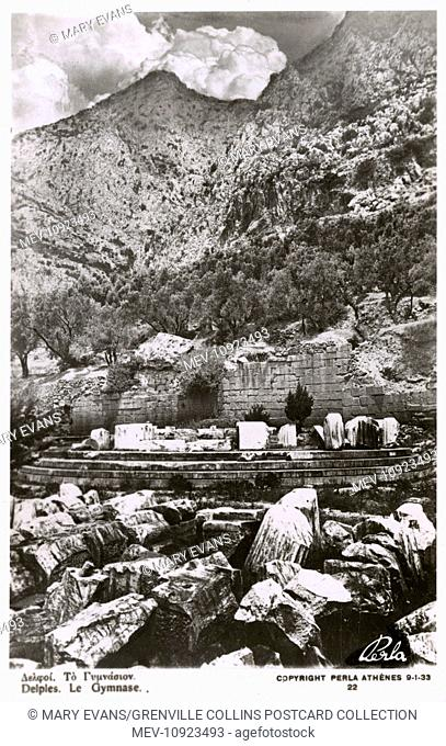 Remains of the Gymnasium at Delphi, Greece