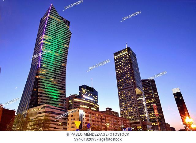 "Modern skyscrapers """"Zlote Tarasy"""" in Warsaw, Poland"