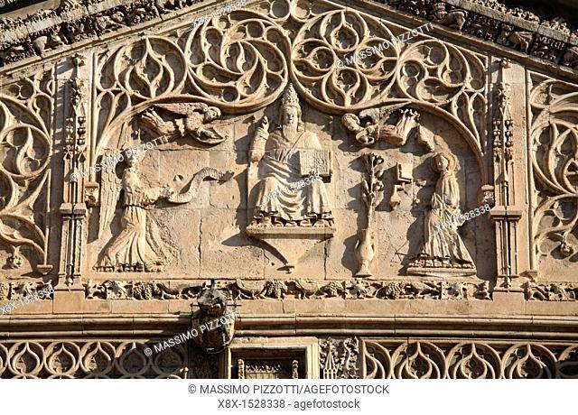 Detail of the portico of Palermo's Cathedral by Domenico and Antonello Gagini, Palermo, Sicily