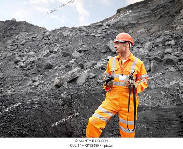Coal Miner With Walkie Talkie