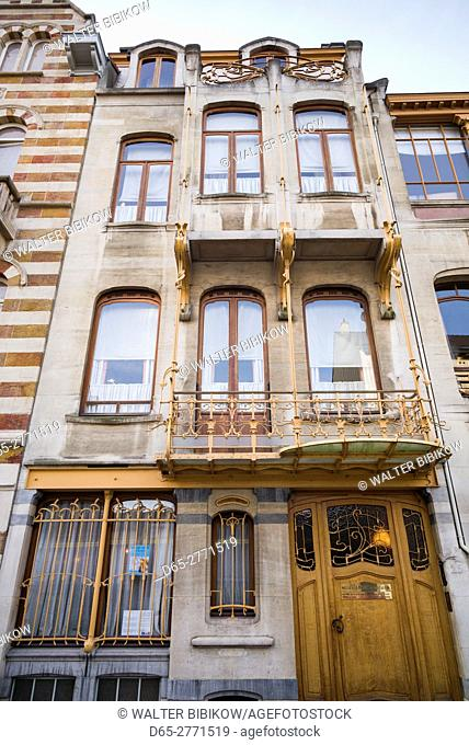 Belgium, Brussels, art-nouveau architecture, Musee Horta, former home of period architect Victor Horta