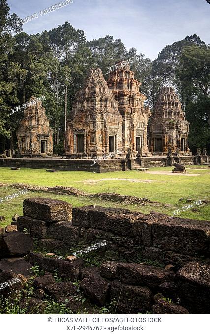 Preah Ko Temple ( Roluos Group ) , Angkor Archaeological Park, Siem Reap, Cambodia